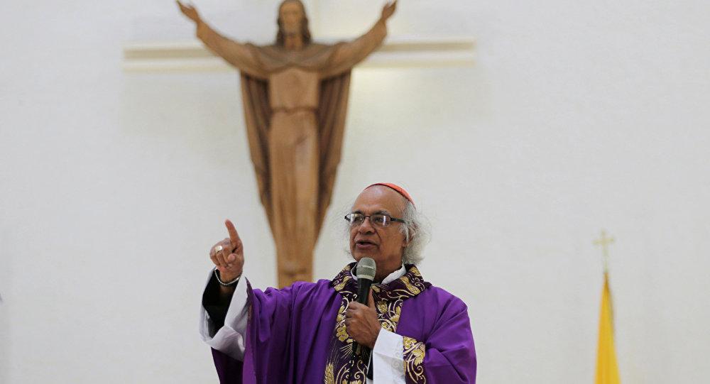 El cardenal Leopoldo Brenes