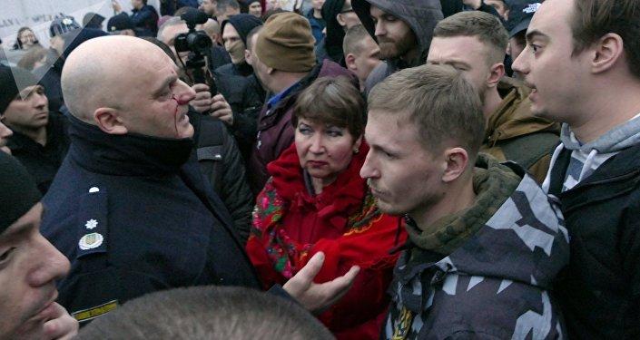 Enfrentamientos en la ciudad de Cherkasy