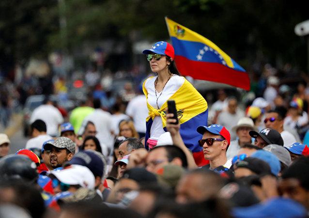 Movilización opositora en Caracas