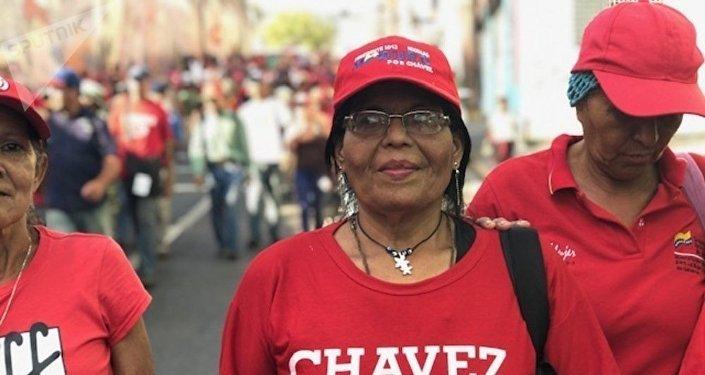 Marcha chavista en Caracas