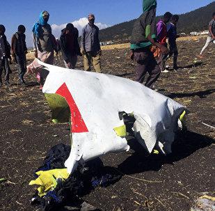 El lugar del siniestro del ET 302 de Ethiopian Airlines (archivo)