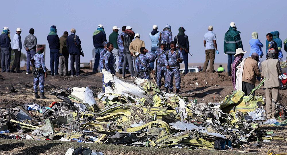 El lugar del siniestro del Boeing 737 en Etiopía