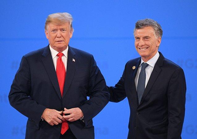 Donald Trump, presidente de EEUU, y Mauricio Macri, presidente de Argentina