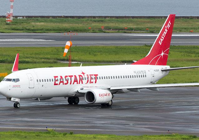 Un avión Boeing 737 MAX de la aerolínea Eastar Jet