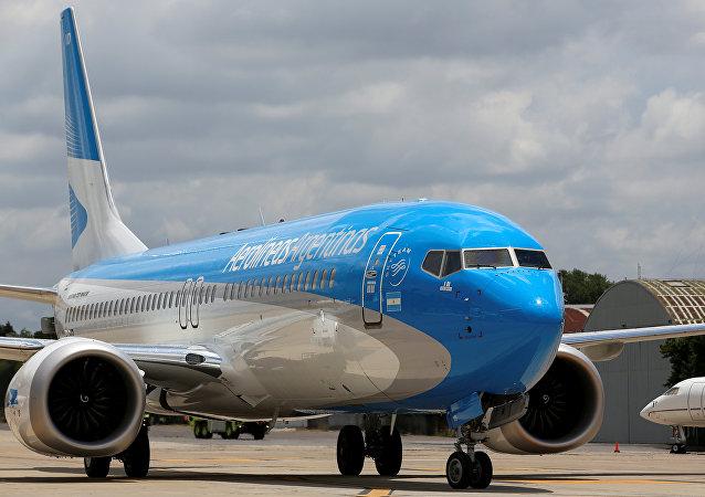 Un Boeing 737 MAX 8 de Aerolíneas Argentinas