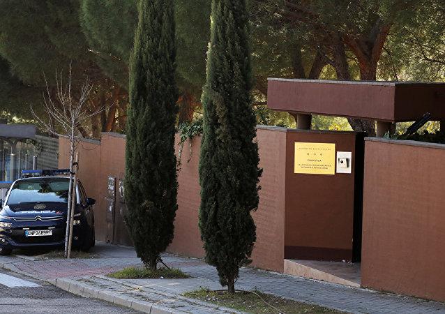 La Policía de España frente a la Embajada de Corea del Norte en Madrid (archivo)