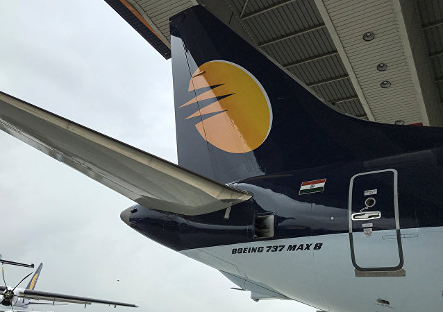 Un Boeing 737 MAX 8 de la aerolínea india Jet Airways (archivo)