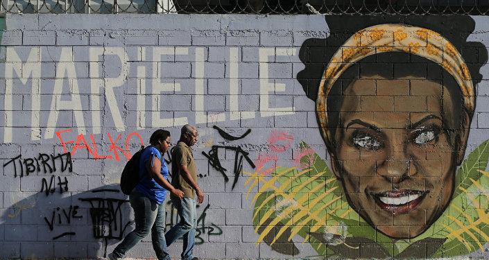 Mural de Marielle Franco en Rio de Janeiro