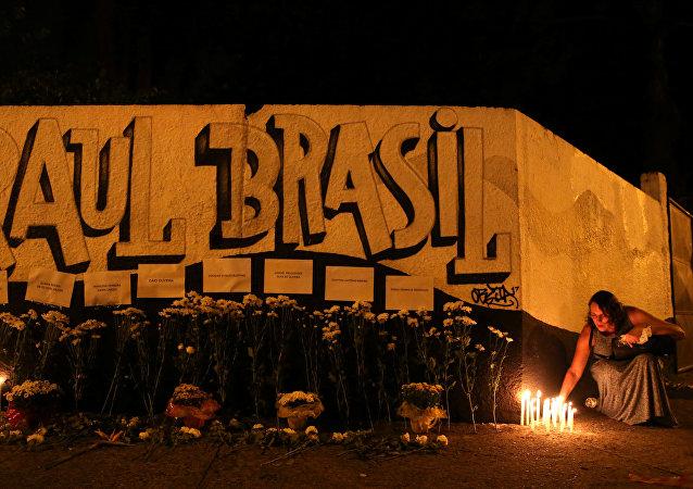 El homenaje a las víctimas del tiroteo en la escuela Raul Brasil en Suzano, estado de Sao Paulo, Brasil