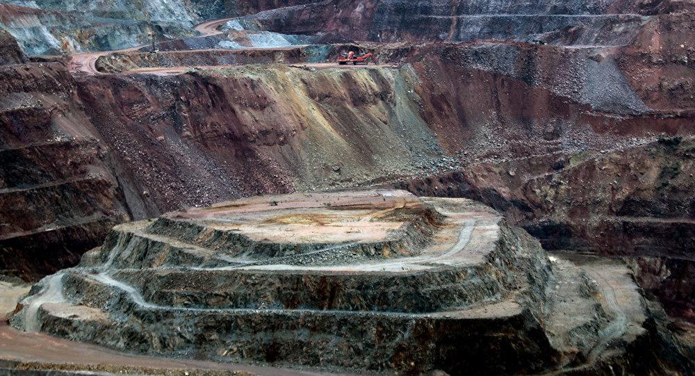 Vista de la mina de oro canadiense Goldcorp en el complejo Los Filos en Carrizalillo, Estado de Guerrero, México