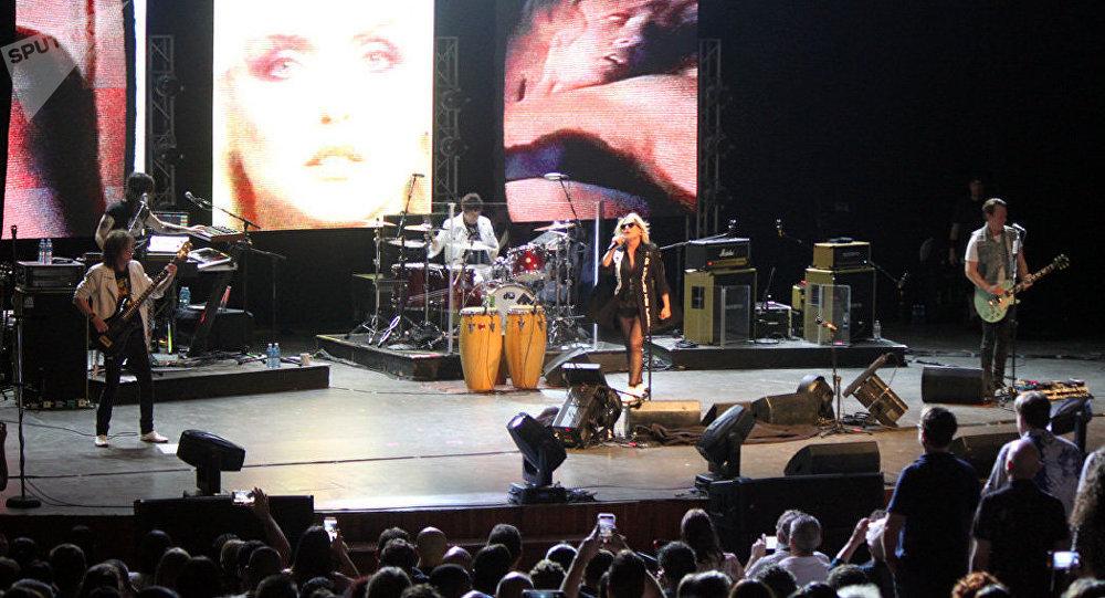 La banda de rock estadounidense Blondie