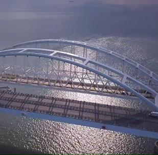 Así avanza la construcción del puente de Crimea
