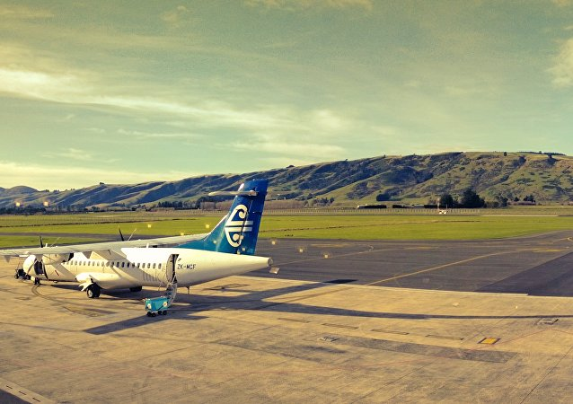 El aeropuerto de Dunedin, Nueva Zelanda