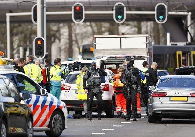 Lugar del tiroteo en la ciudad de Utrecht, Países Bajos (archivo)