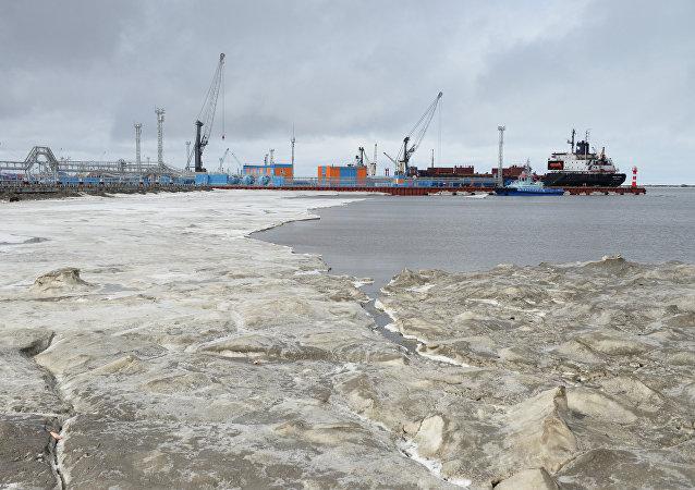 El puerto de Sabetta, en el Ártico, Rusia