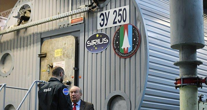 Módulo espacial para el experimento de la imitación del vuelo a la Luna Sirius-19