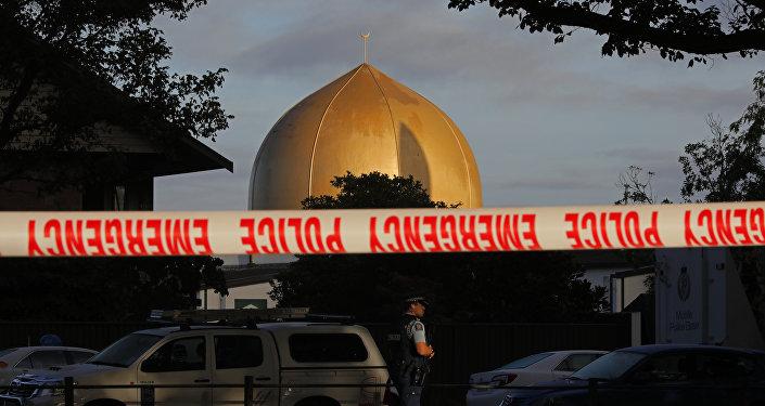 Una de las mezquitas en Christchurch, Nueva Zelanda