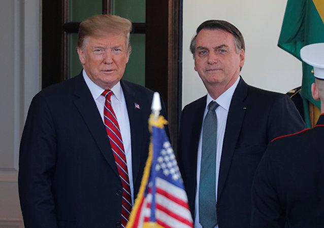 Presidente de EEUU, Donald Trump, y presidente de Brasil, Jair Bolsonaro