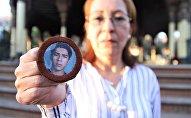 Ciudad de México. Ana Enamorado muestra la foto de su hijo Oscar López Enamorado quien salió de San Pedro Sula, Honduras, en 2008 y se comunicó por última vez en enero de 2010, desde Jalisco.