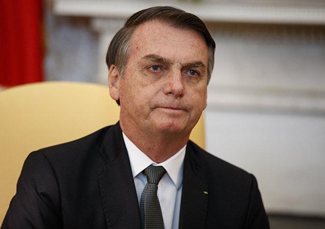 El presidente de Brasil, Jair Bolsonaro, en la oficina oval de la Casa Blanca en Washington