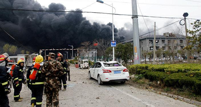 Explosión en una planta química en la provincia de Jiangsu