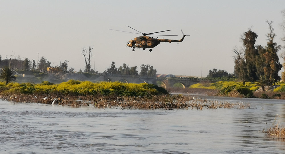 Lugar del hundimiento de un ferry en Mosul, Irak