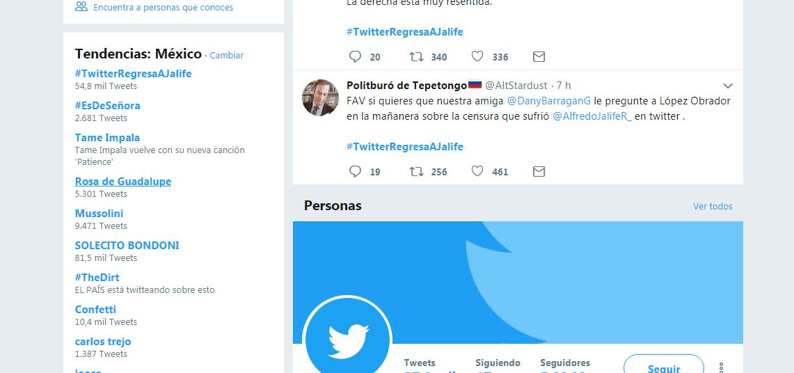 Tendencias en Twitter en México