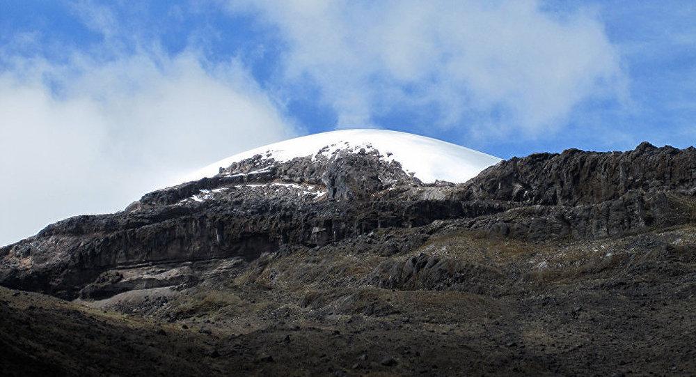 El glaciar de Santa Isabel, Colombia