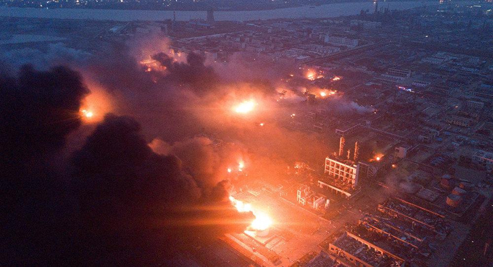 La explosión en la planta química Tianjiayi en China