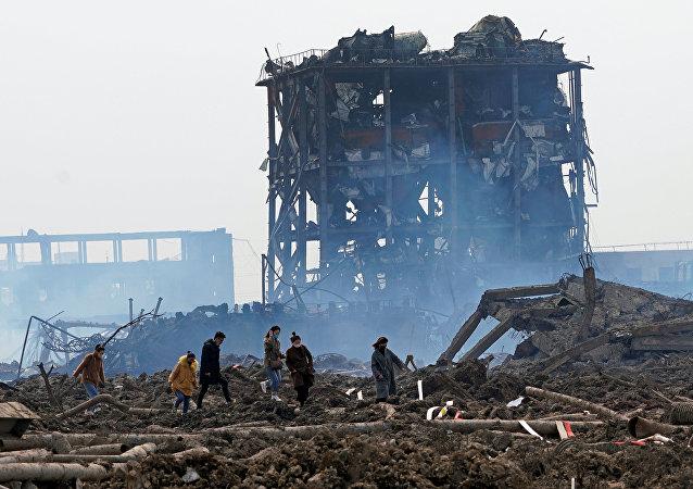 Las consecuencias de la explosión en la planta química Tianjiayi en China