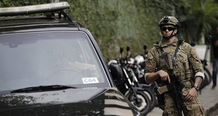 Un policía federal de Brasil (imagen referencial)