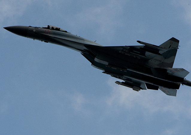 El avión Su-35S (archivo)