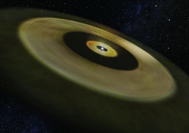 Así se forman los planetas (imagen artística)