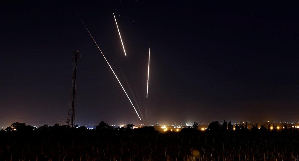 Los cohetes sobre la Franja de Gaza