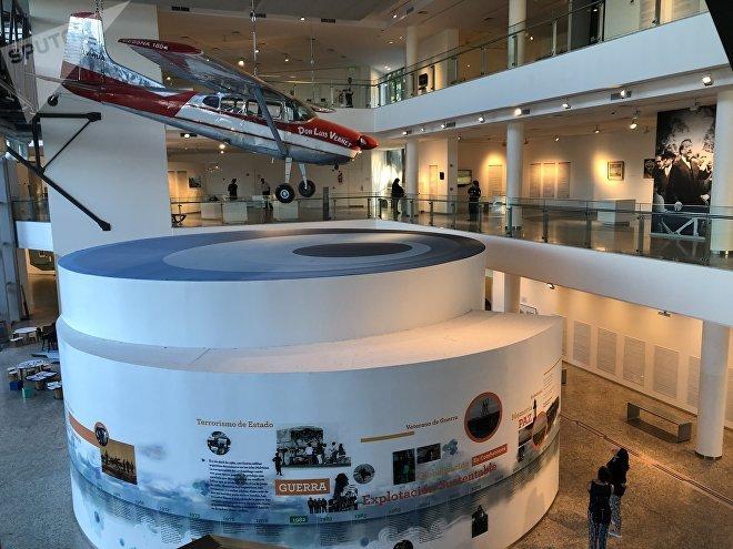 En el recorrido del museo, los visitantes pueden repasar la historia del archipiélago argentino ocupado por el Reino Unido