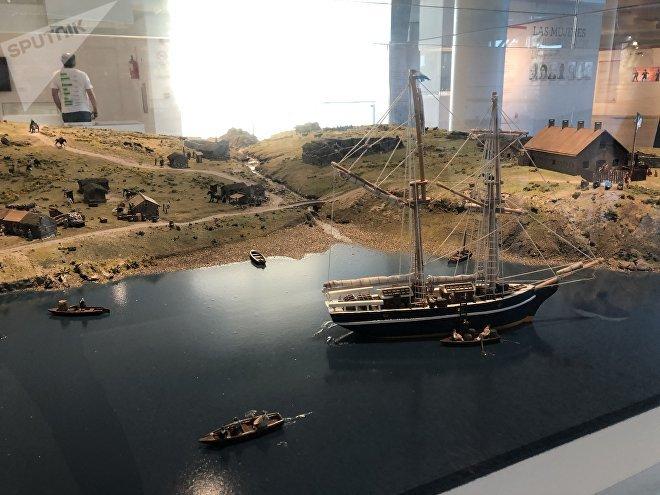 Los elementos en exhibición en el museo de Malvinas de Buenos Aires van mucho más allá de la Guerra de 1982