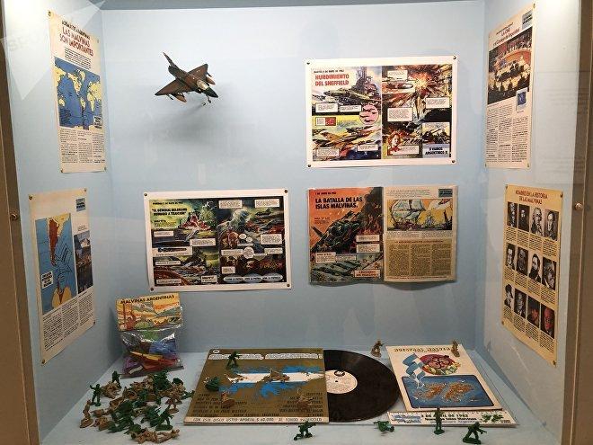 Los objetos de la época de la Guerra están exhibidos en el museo de Malvinas