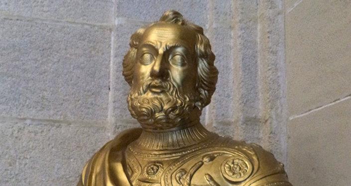 Busto de Hernán Cortés en el Archivo de Indias de Sevilla