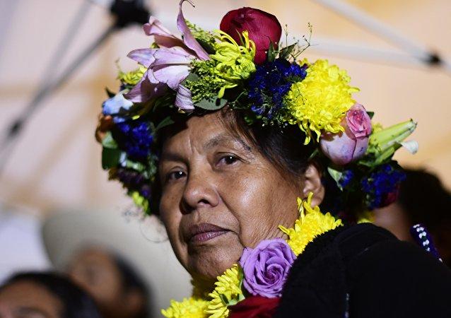 María de Jesús Patricio Martínez, conocida como 'Marichuy', dirigente indígena