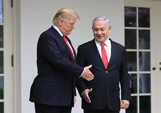 El presidente estadounidense, Donald Trump, y el primer ministro israelí, Benjamín Netanyahu (archivo)