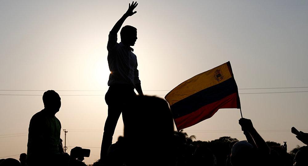 Juan Guaidó, lider opositor venezolano, durante un discurso