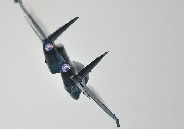 A Su-34 strike aircraft