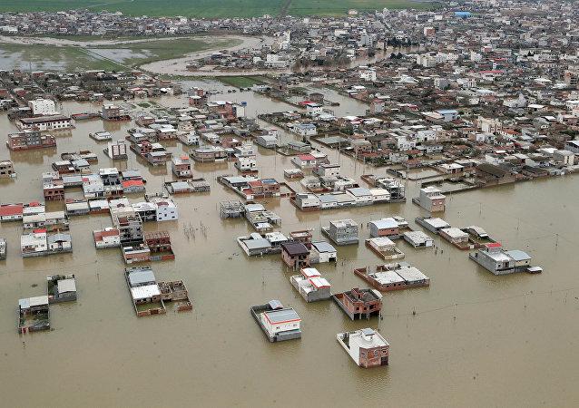 Las inundaciones en Irán
