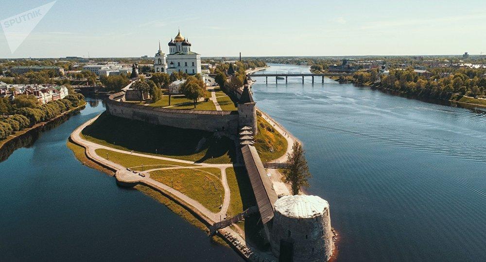 El Kremlin de Pskov, Rusia