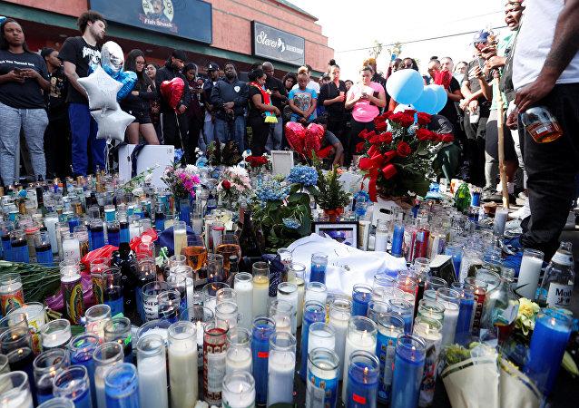 Una vigilia en memoria del rapero Nipsey Hussle