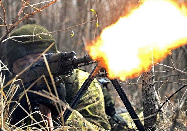 Учения мотострелкового соединения ВВО в Хабаровске
