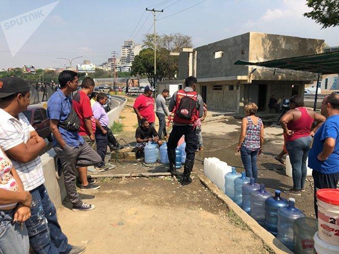La falta de energía eléctrica dejó a buena parte de Caracas prácticamente sin agua