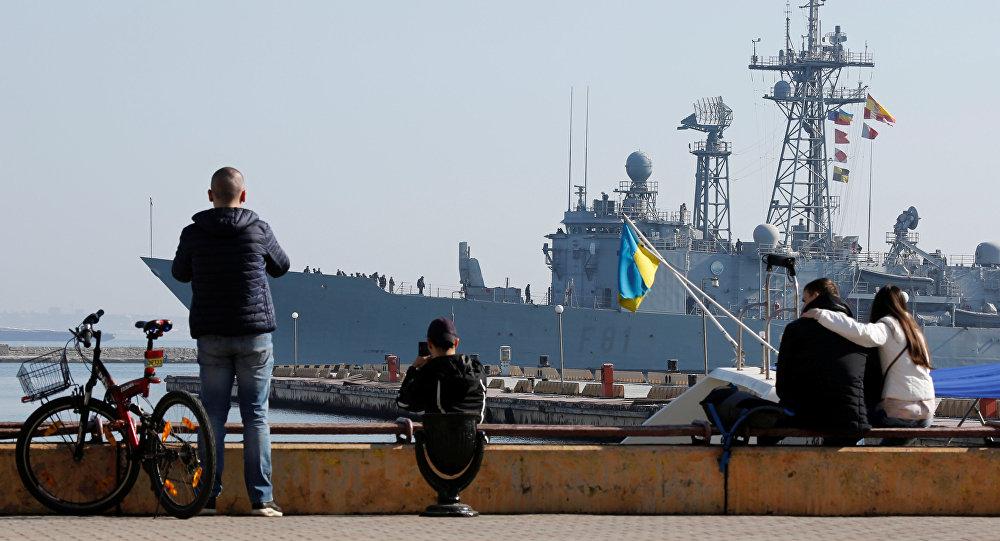 Fragata de la OTAN en el mar Negro