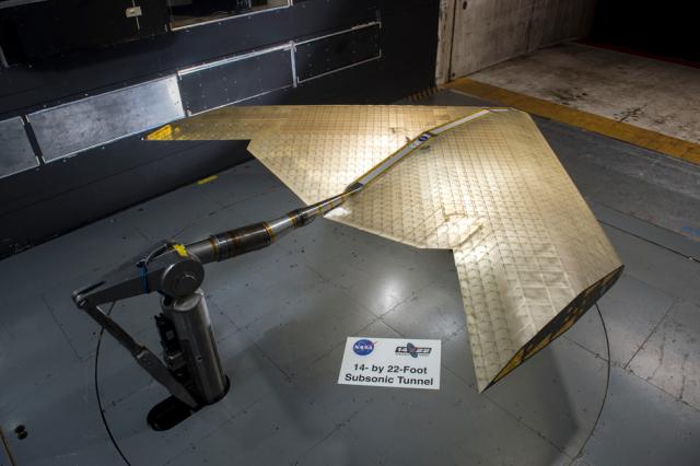 Las alas de la NASA y del MIT se ponen a prueba en un túnel de aire