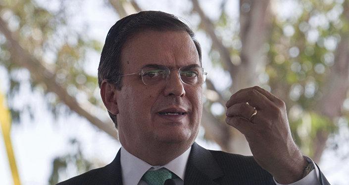 Marcelo Ebrard, secretario de Relaciones Exteriores de México